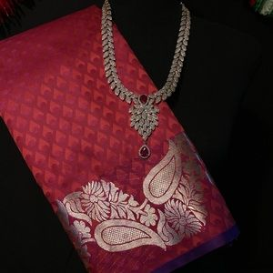 Silver Border Silk Saree